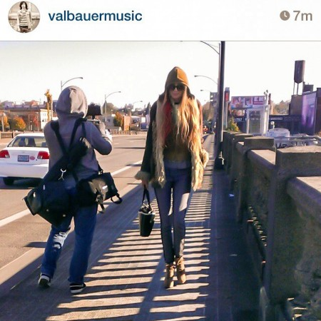 Sean Allen filming me on the Burnside Bridge in Portland.