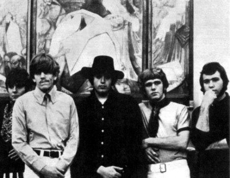 The Electric Prunes, from left to right: Quint, Mike Gannon, Mark Tulin, James Lowe, Ken Williams